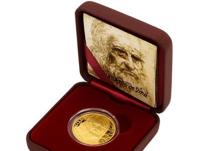 Česká mincovna připomíná 500. výročí úmrtí Leonarda da Vinci