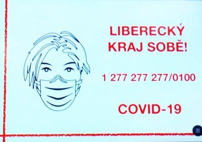Liberecký kraj vyhlásil veřejnou sbírku na boj proti koronaviru