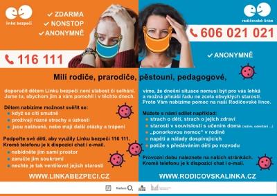 Linka bezpečí nabízí pomocnou ruku i v době koronaviru