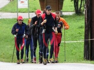 Lyžaři se připravují v Krkonoších