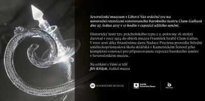 V Severočeském muzeu ukáží renovovaný barokní lustr