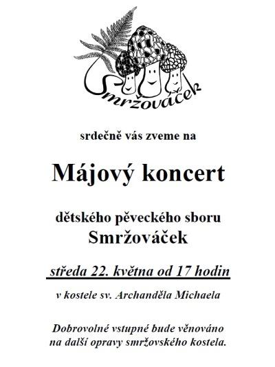 V kostele sv. Archanděla Michaela zazní Májový koncert Smržováčku