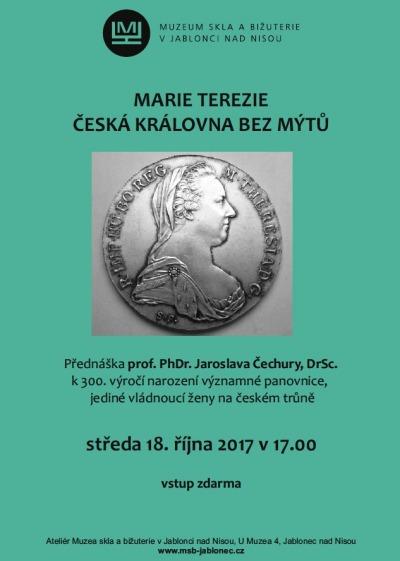 Přednáška v muzeu skla představí Marii Terezii bez mýtů