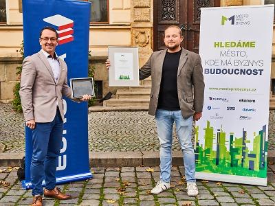 Pardubice vyhrály celorepublikové Město pro byznys, Jablonec devátý