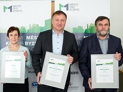 Městem pro byznys Libereckého kraje 2017 se stal Jablonec nad Nisou