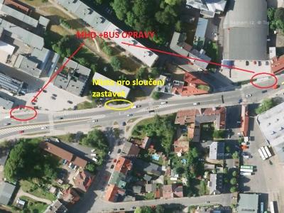 Dočasně budou v Jablonci zrušené zastávky Pražská a U Gymnázia