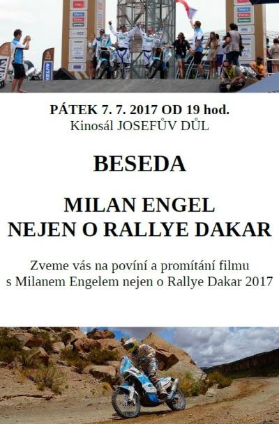 Milan Engel bude vyprávět nejen o Rallye Paříž Dakar