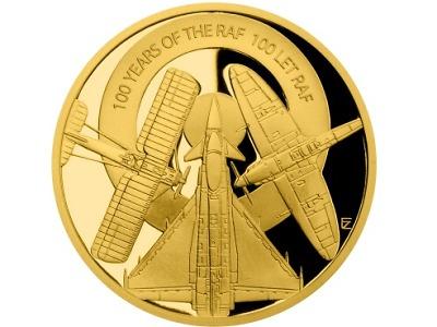 Sada zlatých a stříbrných mincí oslaví stoleté výročí vzniku RAF