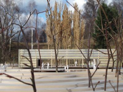 Model návrhu slunečního pavilonu je vystavený na radnici do konce září