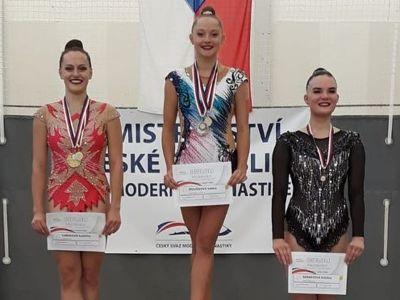 Jablonecká gymnastka Sabina Štovíčková na MČR úspěšná