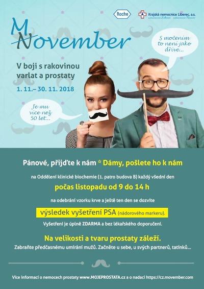 Do Movemberu se zapojila i KNL. Muži mají prohlídky zdarma