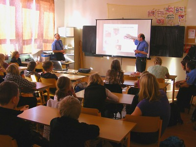 Strážníci poučili školáky v jablonecké ZŠ v Sokolí ulici