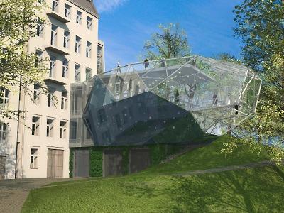 Přístavba jabloneckého muzea bude mít tvar obřího broušeného krystalu