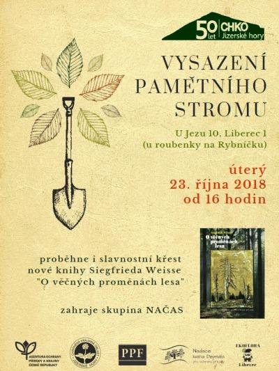 K50. výročí CHKO Jizerské hory vysadí strom a pokřtí knihu