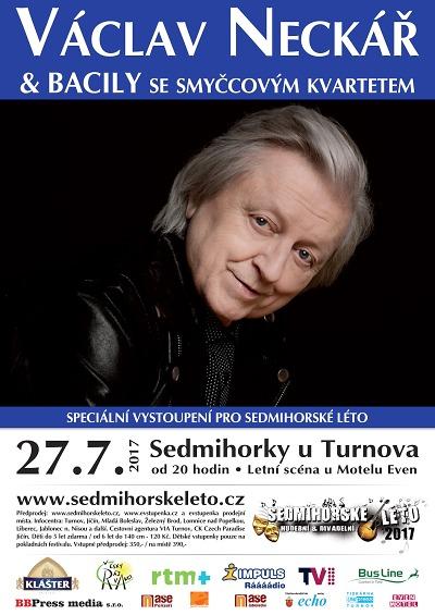 Václav Neckář a Bacily zahrají v Sedmihorkách se smyčcovým kvartetem