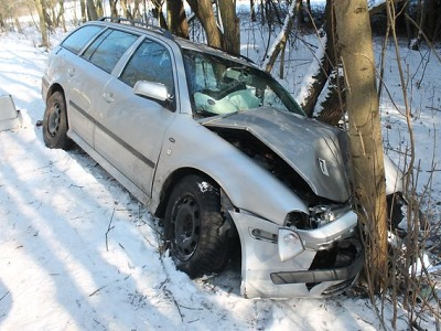 Krajští policisté vyjížděli po sněžení k mnoha nehodám