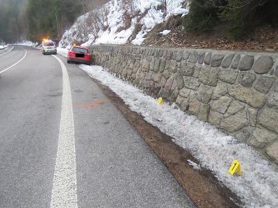 Řidička havarovala kvůli vysoké rychlosti u Železného Brodu