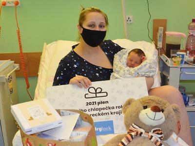První miminko v jablonecké nemocnici v roce 2021 je chlapeček Jan