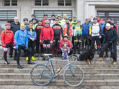 Tradice novoroční cyklistické vyjížďky stále žije