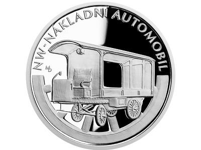 Česká mincovna oslaví stříbrnou mincí 120. výročí automobilu NW