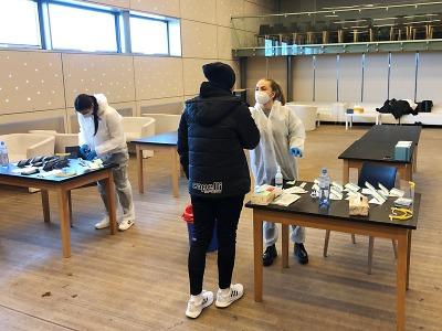 Na Střelnici v Jablonci otevřeli odběrové centrum pro antigenní testy