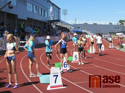 Obrazem: První den soutěží v atletice na ODM v Jablonci