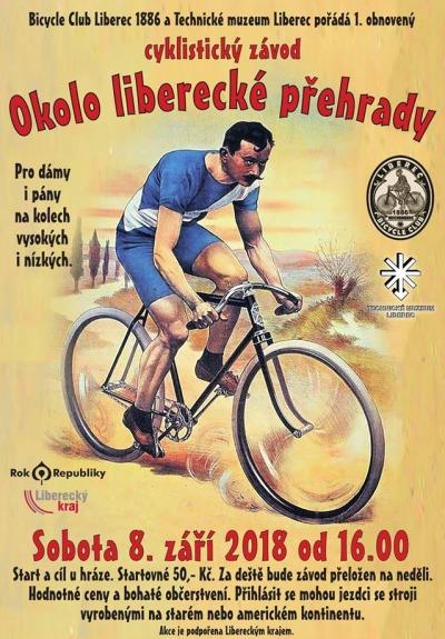 Cyklistický závod historických kol kolem liberecké přehrady