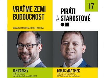 Libereckou kandidátku Starostů a Pirátů vedou dva zkušení poslanci