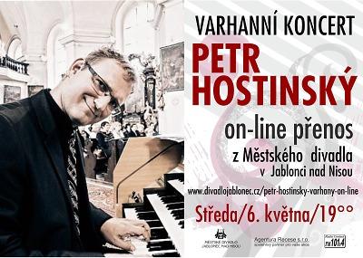 Petr Hostinský zahraje online z jabloneckého divadla