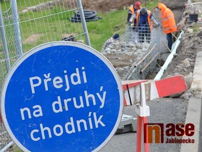 Most v jablonecké ulici Vodní se bude do konce září opravovat