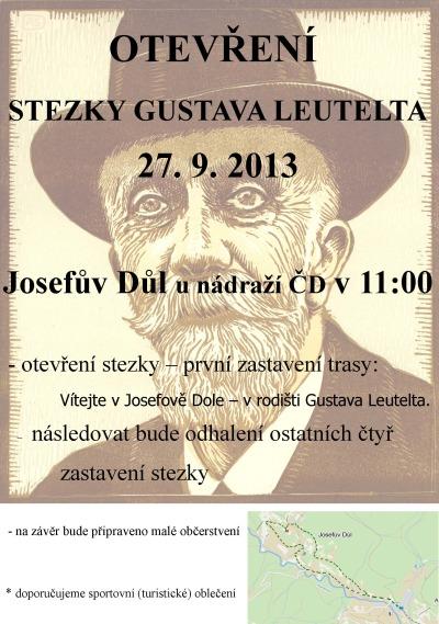 V Josefově Dole slavnostně otevřou stezku Gustava Leutelta