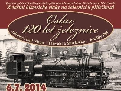 Železnice na Jablonecku slaví 120 let. Vyjedou zvláštní historické vlaky