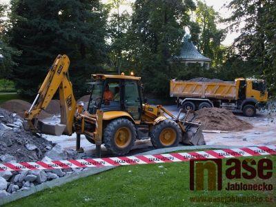 Obrazem: Úpravy Tyršova parku v Jablonci