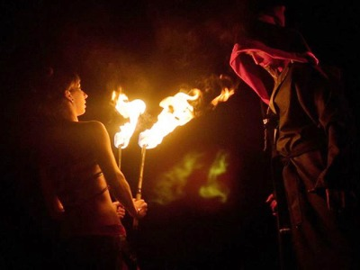 Jablonecká přehrada v plamenech aneb Přehrada Art Fest 2015