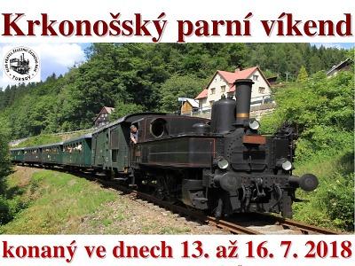 Parní vlaky budou opět vozit fanoušky na Krakonošovy letní podvečery
