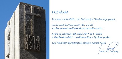 Výročí vzniku Československa si připomene i Jablonec