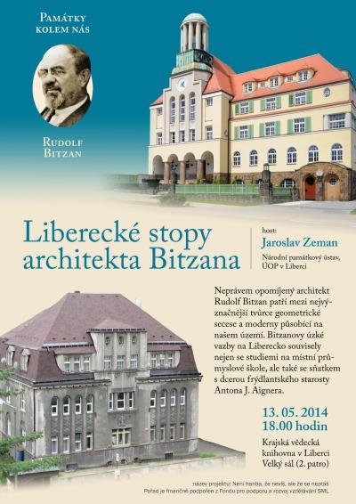 Liberecké stopy architekta Bitzana představí v krajské knihovně
