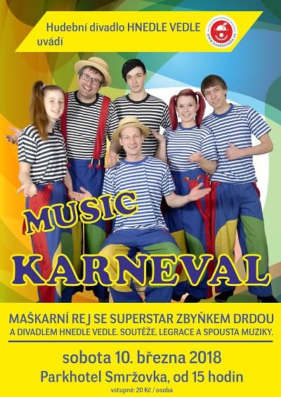 Music Karneval na Smržovce s divadlem Hnedle vedle