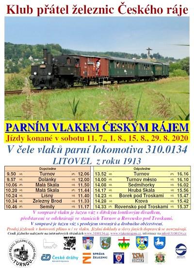 Parní vlaky o prázdninách opět vyjíždí na koleje v Českém ráji