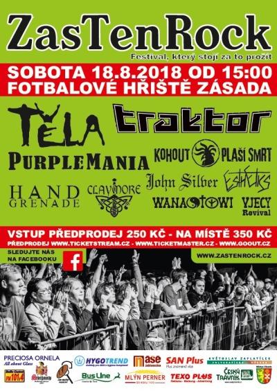 Festival ZasTenRock posedmé přivítá fanoušky v Zásadě