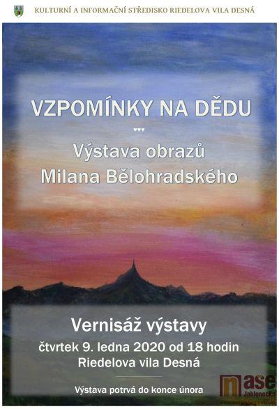 Vernisáž výstavy obrazů Milana Bělohradského