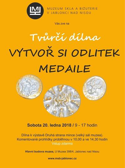 Vytvořte si odlitek medaile na tvůrčí dílně k výstavě Druhá strana mince