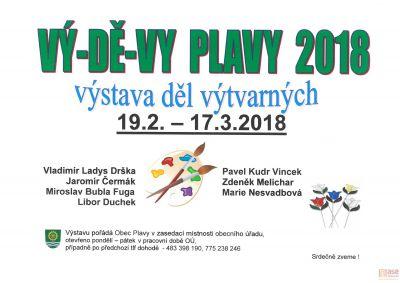 Pozvánka na výstavu VÝ-DĚ-VY Plavy 2018