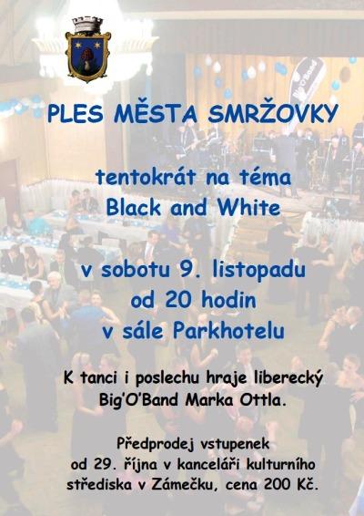 Ples města Smržovky bude na téma Black and White