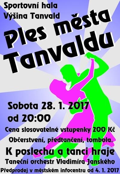 Městský ples v Tanvaldě oživí Taneční orchestr Vladimíra Janského