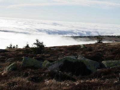 Obrazem: Krkonošské pohledy na inverzi a západ slunce Jana Šedivého