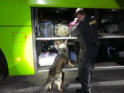 Kontrolní akce policie probíhala u hraničního přechodu v Harrachově