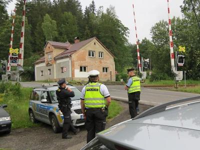 Policisté z Jablonecka se opět zaměřili na železniční přejezdy