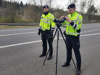 Krajští policisté kontrolovali při akci TISPOL rychlost vozidel