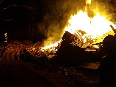Hořel les ve Zlaté Olešnici